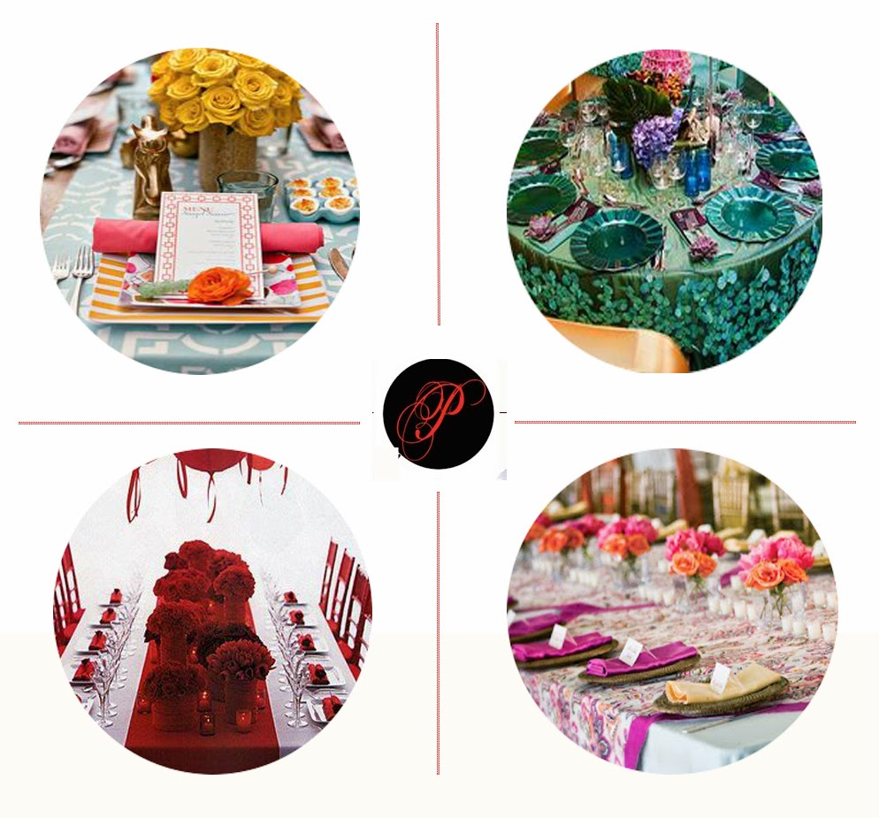 colors, vibrant, table decor