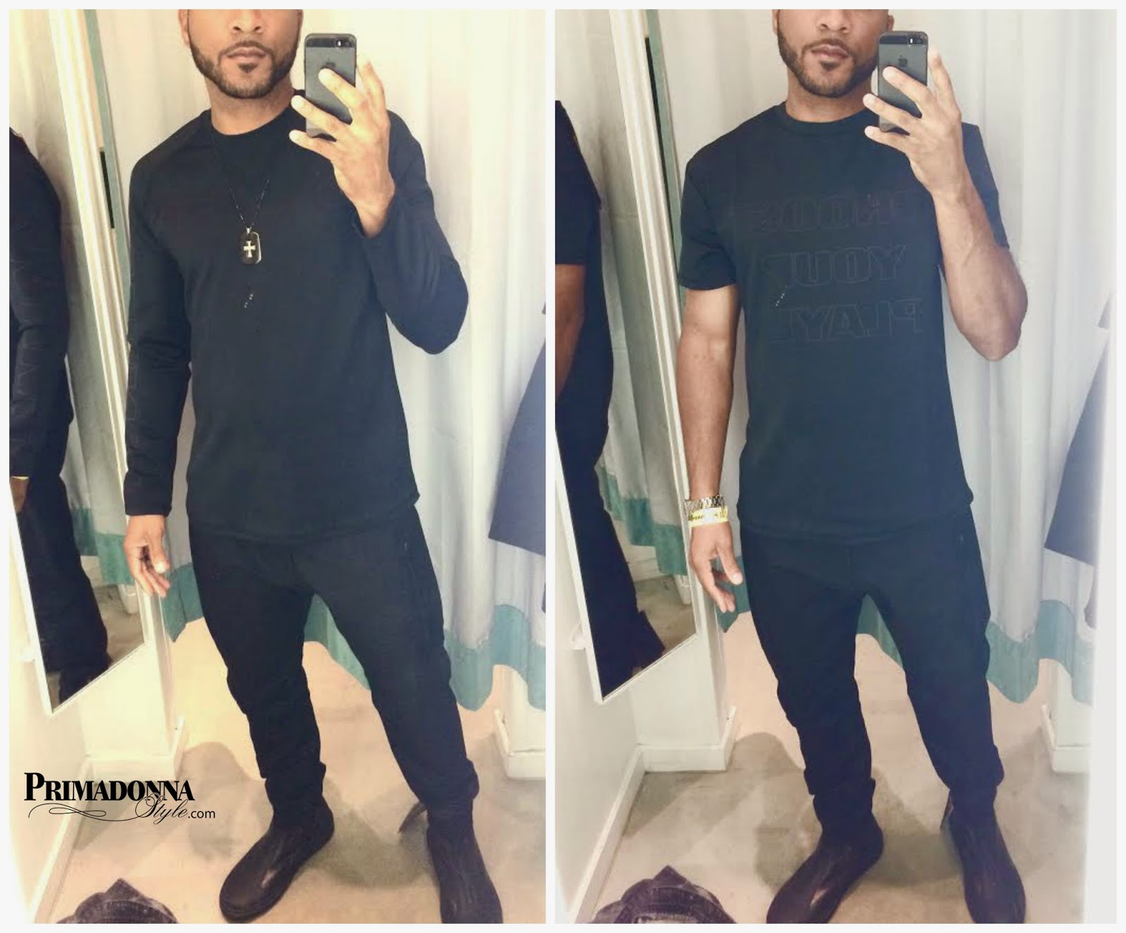 Alexander Wang for H&M Long Sleeve T-Shirt, T-Shirt, Tapered Jeans, and Leather High Tops