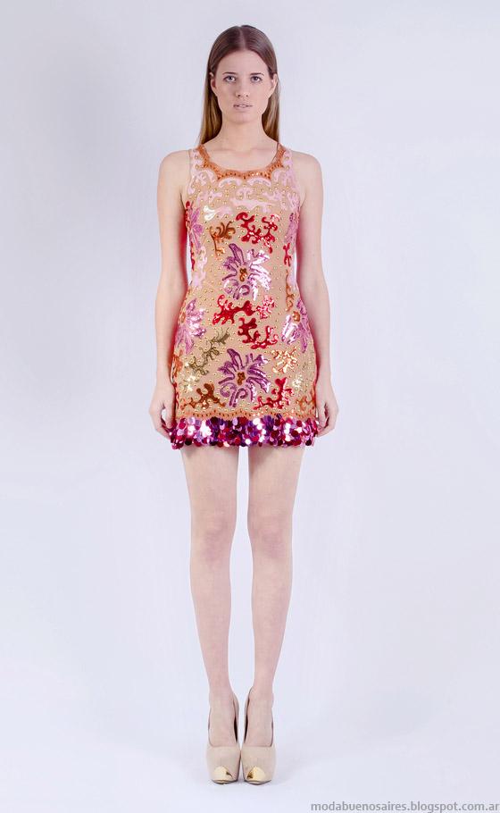 Vestidos cortos primavera verano 2015 Natalia Antolin moda en vestidos de fiesta.