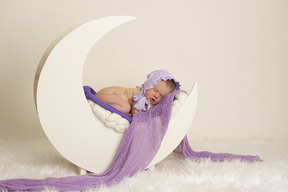 Eugene, OR Newborn Photography cream moon