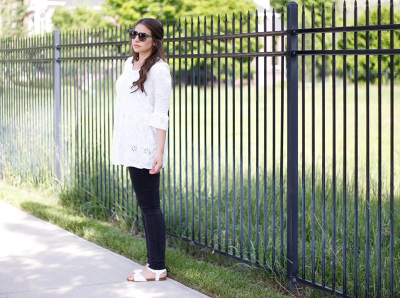 bohemian white lace tunic