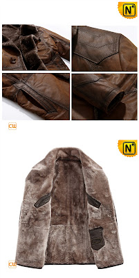 Long Sheepskin Fur Coat for Men