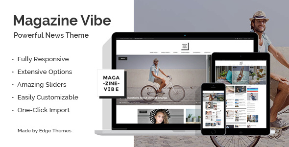 Free Download Magazine Vibe - A Powerful News & Magazine Wordpress Theme