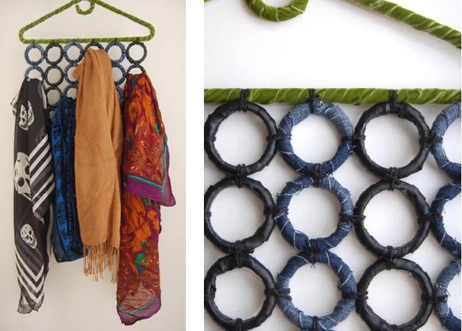Sobbing on fifth favorite diy blogs - Rangement pour foulard ...