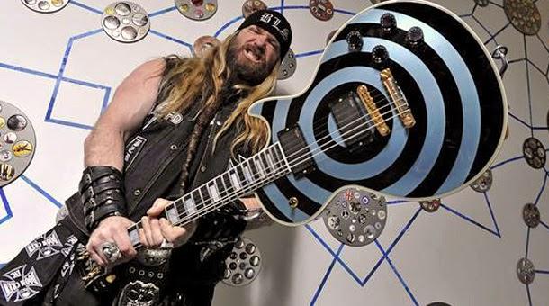 Zakk Wylde Les Paul Pelham Blue Bullseye Gibson Custom Guitar