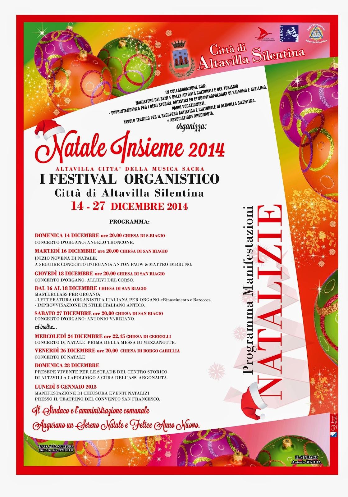 Primo Festival Organistico di Altavilla Silentina