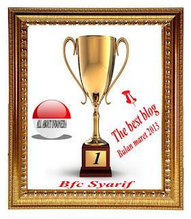 Award Blog Terbaik Edisi Maret Versi All About Indonesia