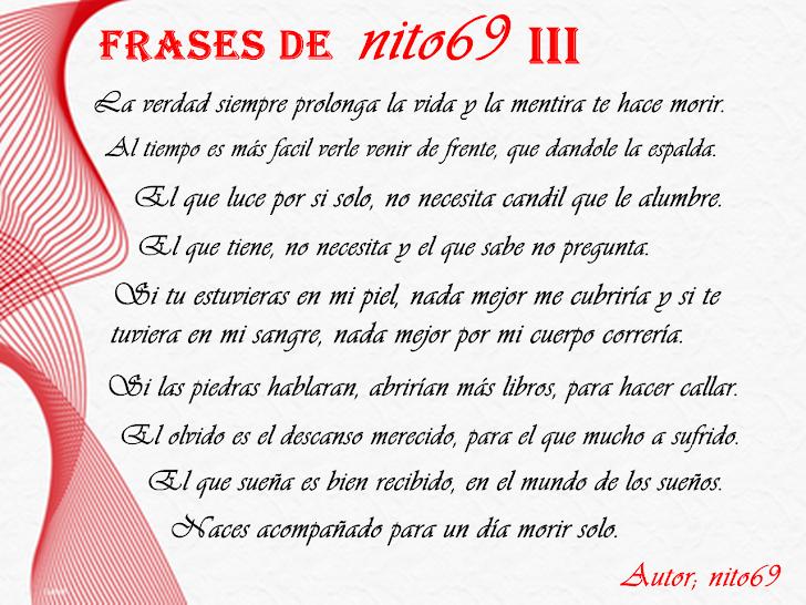 FRASES DE nito69 III