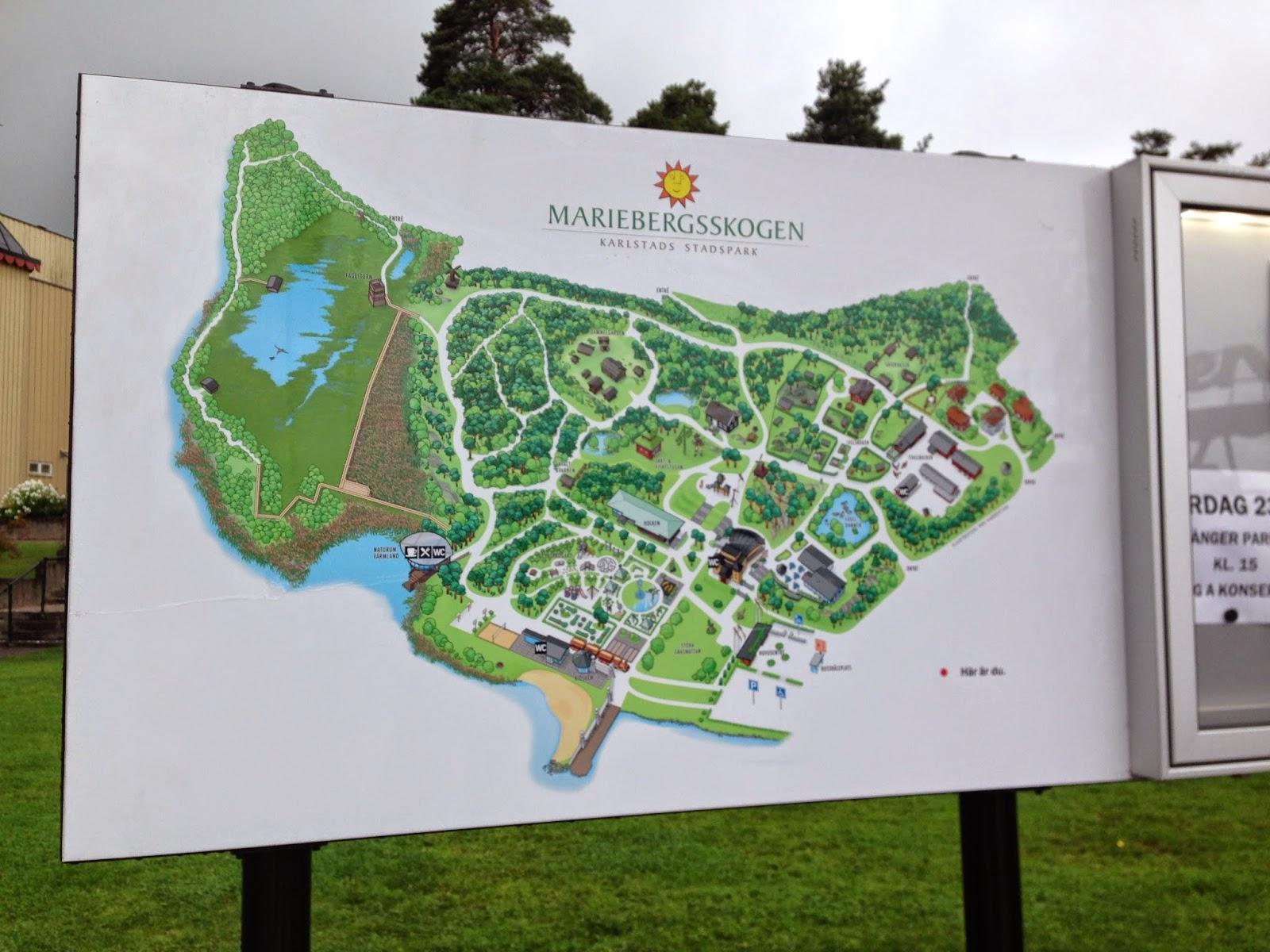 Map of Mariebergsskogen park