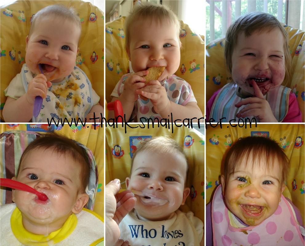 babies eating