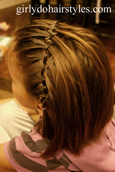 Hairstyles For Short Hair And How To Do It : Ideas For Short Hair #11 Waterfall Pigtails
