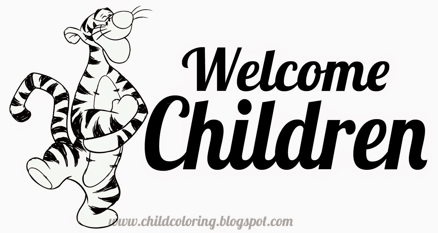 Welcome Children coloring ~ Child Coloring