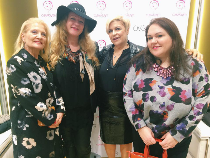 curvy blogger con le giornaliste Daniela Fedi e Lucia Serlenga all'anteprima di curvyglam per ovs