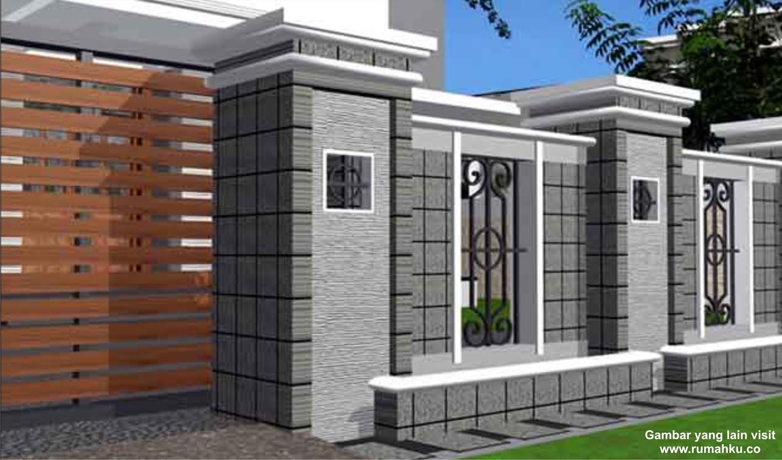 pagar minimalis model rumah modern