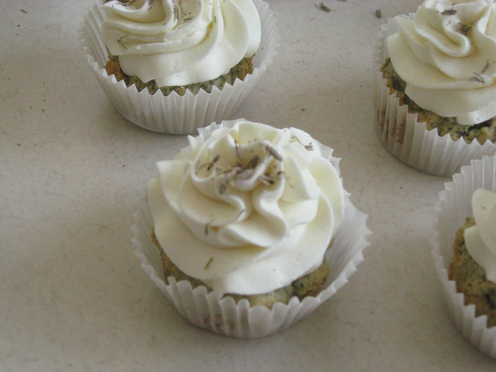... and More: Earl Grey Cupcakes With Lavender Marscarpone Frosting