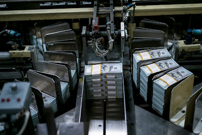 Dollar Machine at US Bureau of Engraving and Printing's Western Currency Facility