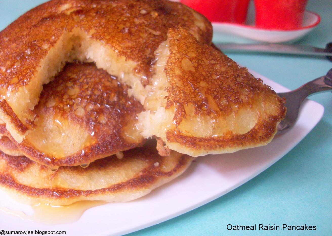 Cakes & More: Eggfree Oatmeal Raisin Pancakes