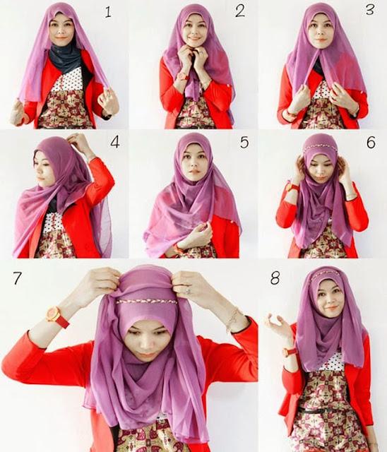 Tutorial Hijab: Cara Memakai Jilbab Segi Empat Kreasi Terbaru 2015 ...