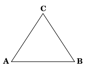 how to draw an equilateral triangle vcarve