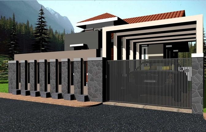 Gambar Desain Pagar Rumah Minimalis Modern