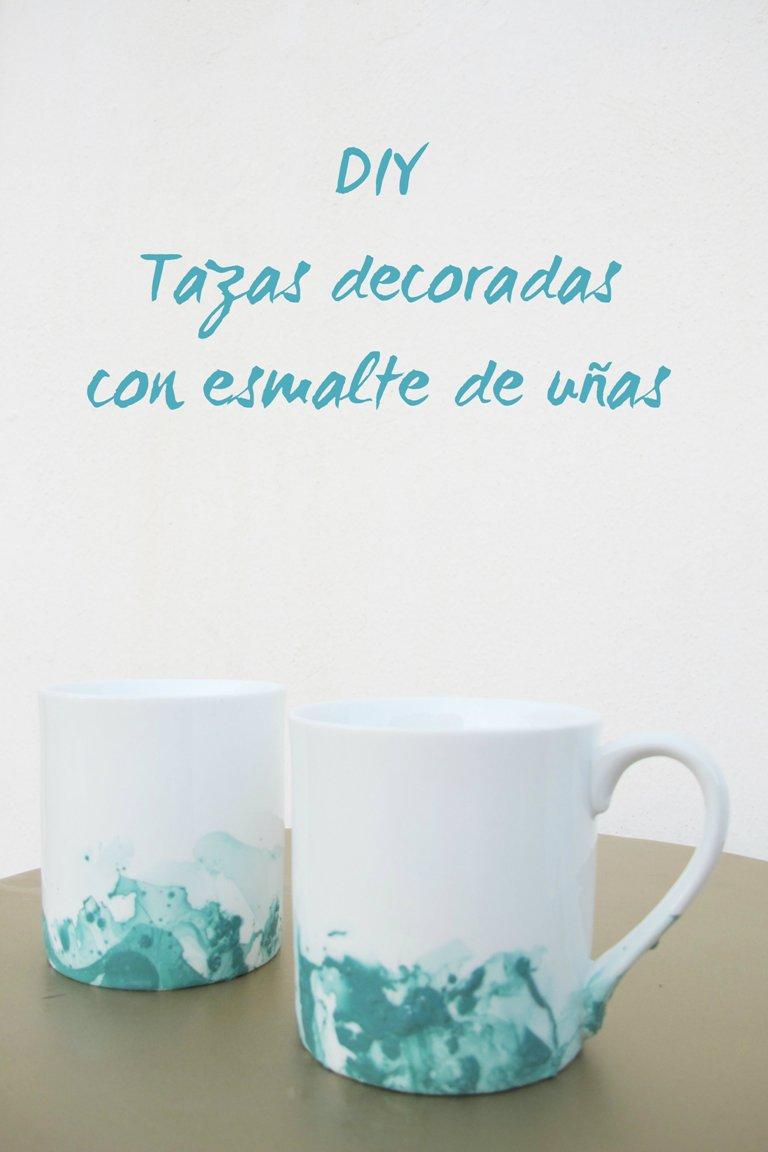Diy decora tus tazas con esmalte de u as decoracion - Decoracion de tazas ...