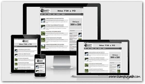 Kompi Males Blogger Template Responsive Dan Valid HTML5