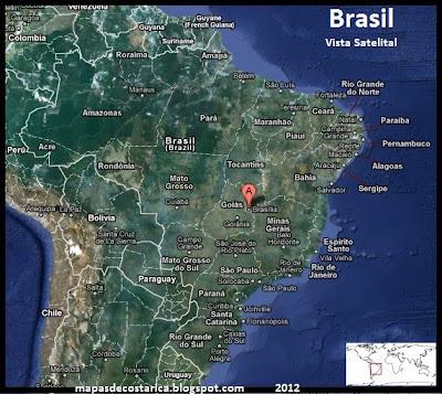 Mapa de Brasil , Vista Satelital