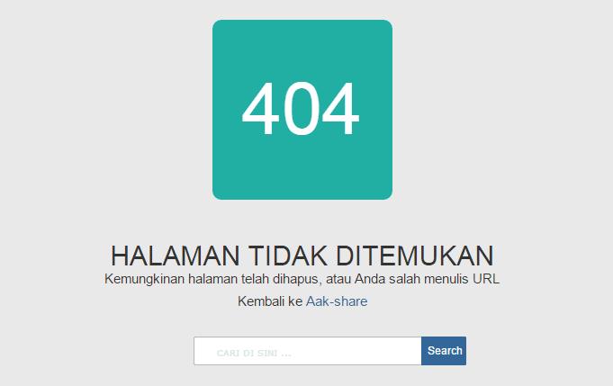 Cara Membuat Halaman Error 404 di Blog