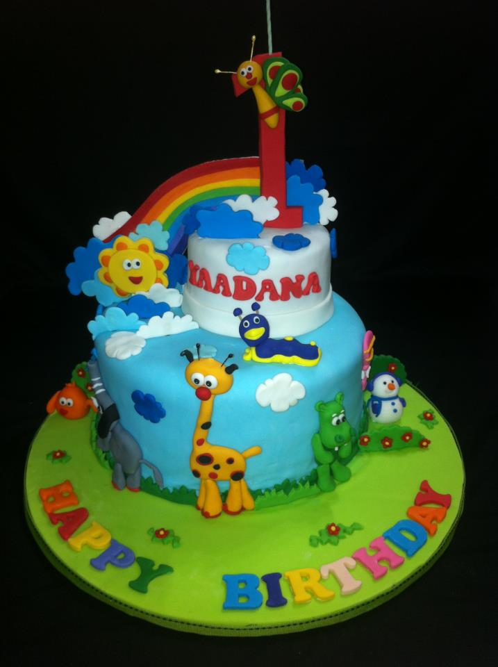 Nures Passion Yaadanas 1st year birthday cake and cupcakes