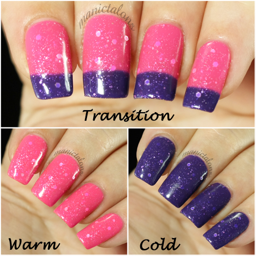 DIY Hard Nails Pink Galaxy Swatch
