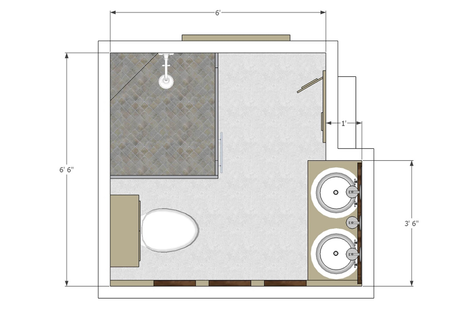 small bathroom floor plans small 3 4 bathroom floor plans small house