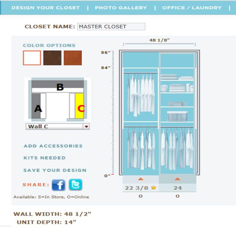 Dream Closet  Martha Stewart Closet System