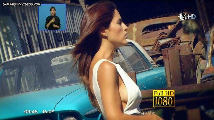 Argentina model Alejandra Martinez boobs oops in HD video