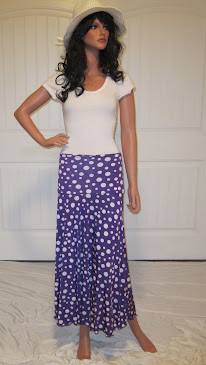 Sassy in vibrant Purple with White Polka Dots