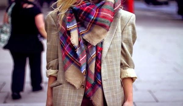 bufanda cuadros tartan Zara