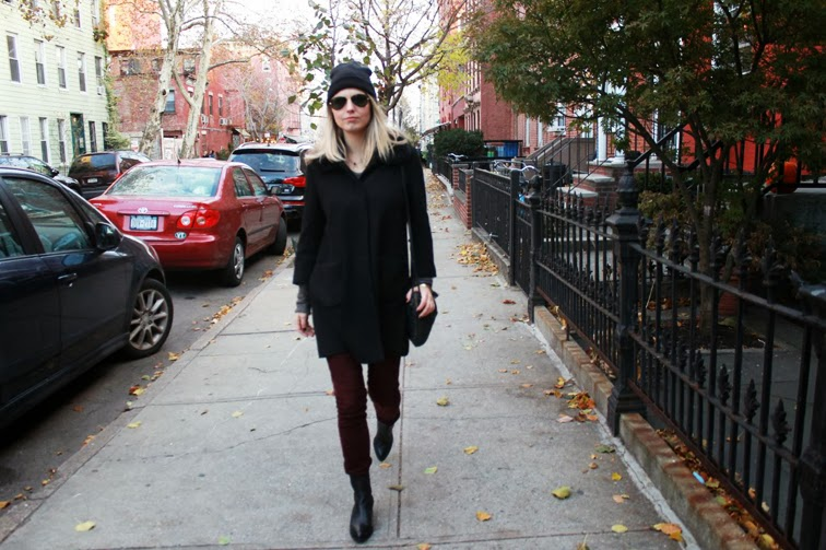 Walking black & oxblood