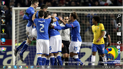 Italy National Football Team Fifa World Cup 2014 Theme For Windows 7 And 8