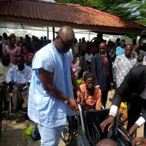 Fayose gives automatic employment to 10 disabled people and 35 wheelchairs