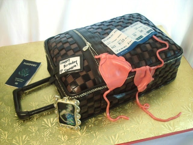 made FRESH daily: Louis Vuitton Luggage Cake!