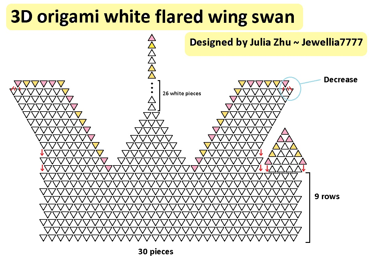 Jewellia handicrafts january 2013 for Origami swan easy step by step
