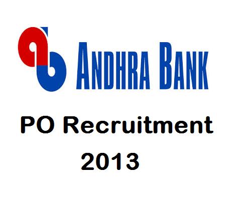 Andhra Bank PO Recruitment 2013 - Job and Diploma (PGDBF)