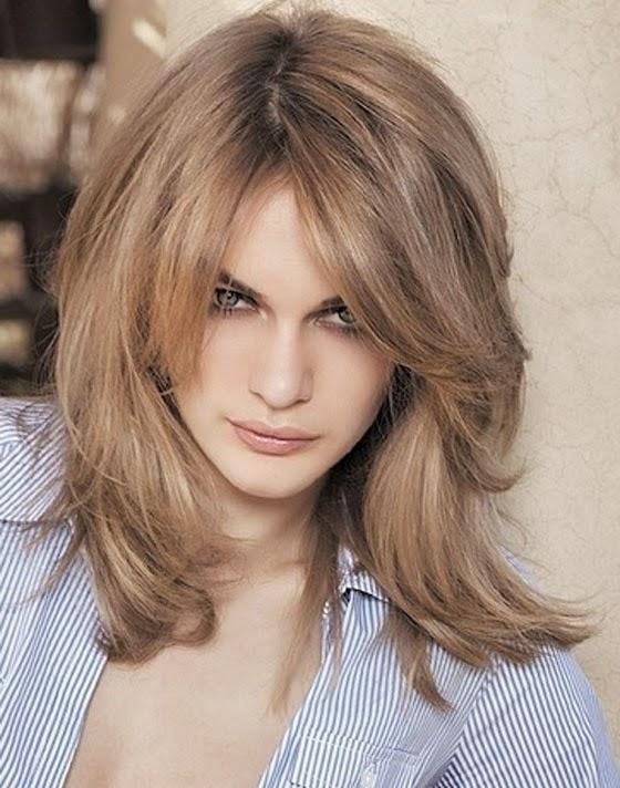 Medium Haircuts With Bangs Layered Hairstyles 2014