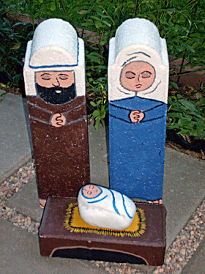 unique nativity sets, painted, pavestone, Cindy Thomas
