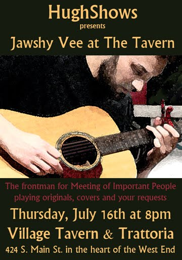 HughShows presents Jawshy Vee at the Tavern