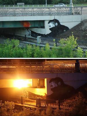 Arte urbano bajo un puente
