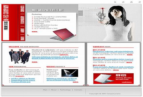 Free Flash Computers Magazine Business Template