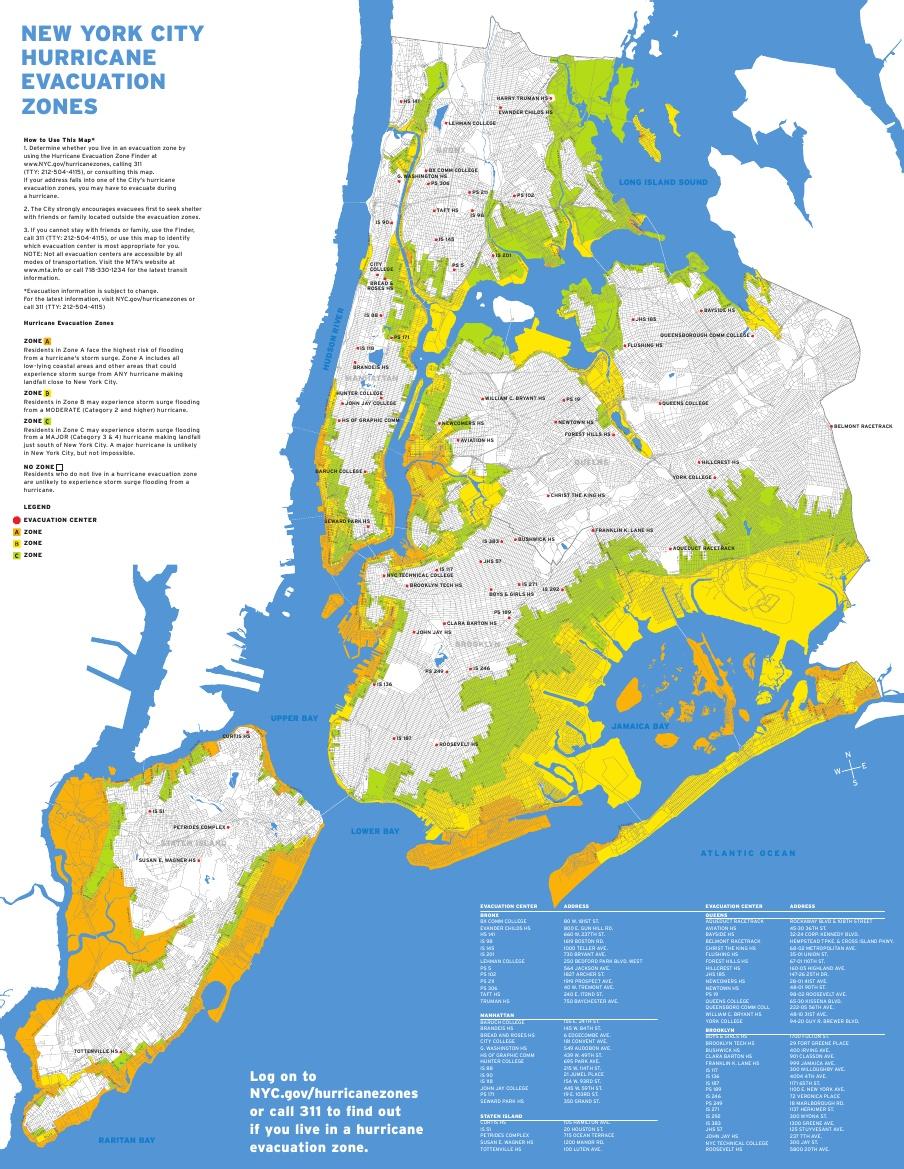 random notes. new york city flood zone map