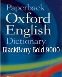 BlackBerry Bold 9000 Oxford English Dictionary