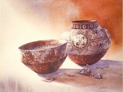 "Anasazi Ceramics 22""X30"" W/C"