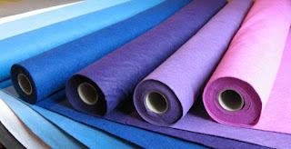 filcowa wstążka filc kolorowy w arkuszach filc w rolce